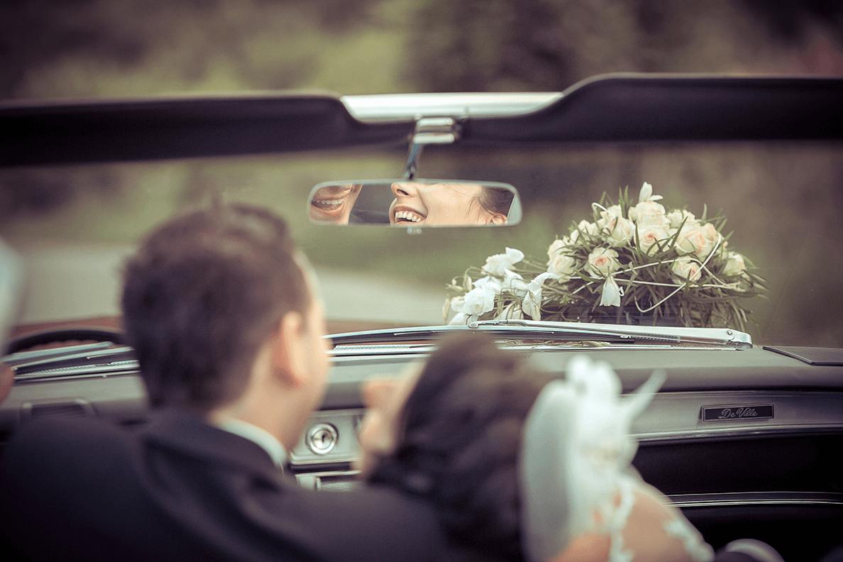 Zdjęcie ślubne z uśmiechem